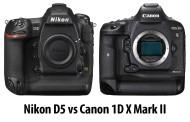 صراع الكبار.. مقارنة بين كاميرتي كانون 1DX Mark II و نيكون D5